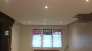 Pose faux plafond et chemin lumineux